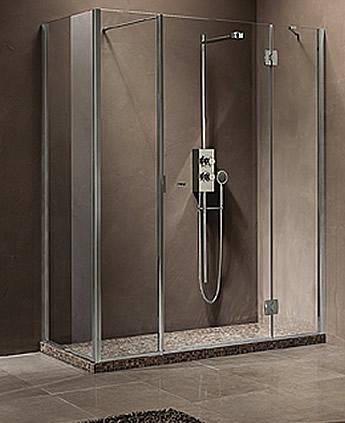 paroi de douche avec cot fixe en angle calibe. Black Bedroom Furniture Sets. Home Design Ideas