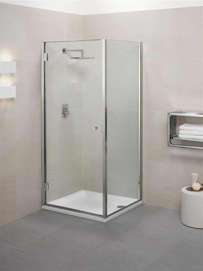 Porte de douche avec cot fixe en angle calibe for Largeur minimum porte
