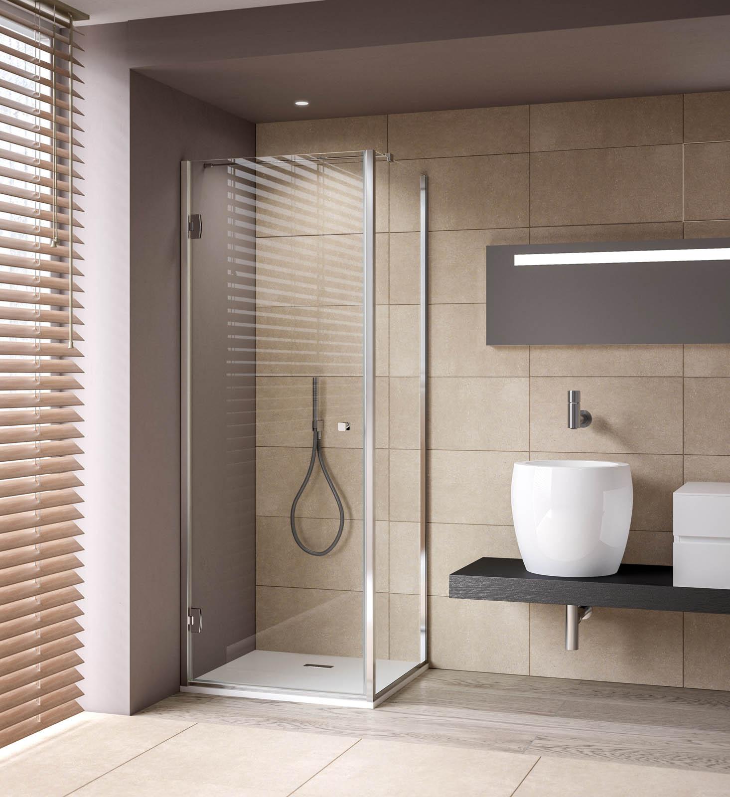porte de douche avec ouverture int rieur ext rieur et fixe sur muret thiana calibe. Black Bedroom Furniture Sets. Home Design Ideas
